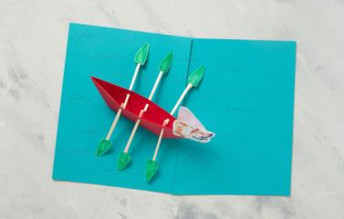 DIY Dragon Boat with chopstick oars